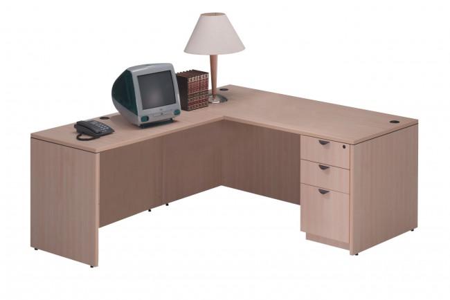 bureau retour classique avec choix de caissons simple ou double bureaux mobiliers neuf. Black Bedroom Furniture Sets. Home Design Ideas