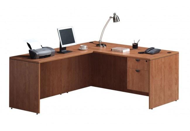 Bureau retour classique avec choix de caissons simple ou double - Bureau classique ...