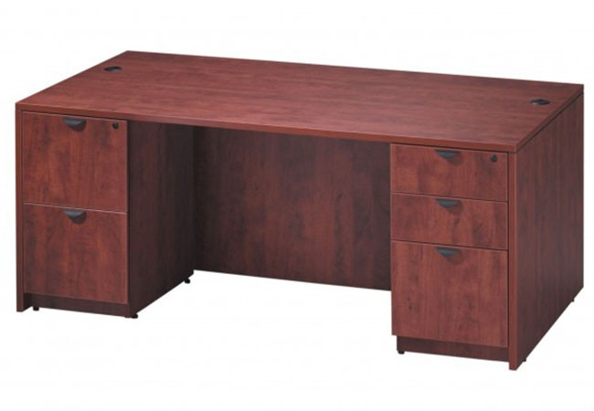 bureau classique 60 71 de largeur avec caisson simple. Black Bedroom Furniture Sets. Home Design Ideas