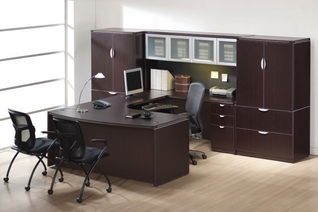 ensemble de bureau ex cutif profil collection profile lamin bureaux mobiliers neuf. Black Bedroom Furniture Sets. Home Design Ideas