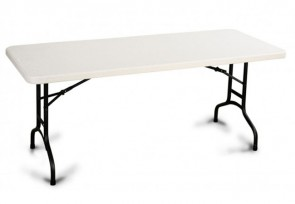 Tables rectangulaires repliables de qualité commerciale