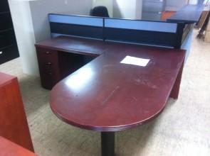 Table en D en bois acajou