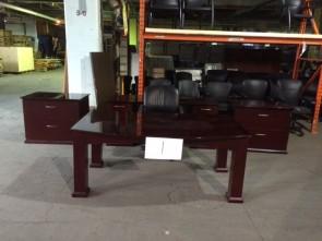 Table laquée et crédence et 2 Classeur Latéraux 2 Tiroirs (Table et crédence de petites réparations)