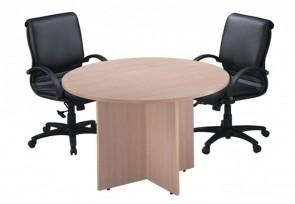Tables de conférence rondes classiques avec base en croix